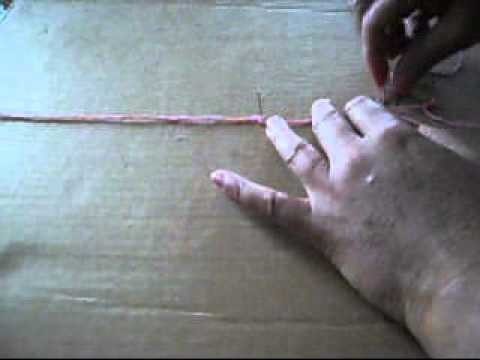 How To Make macramé earrings-1.