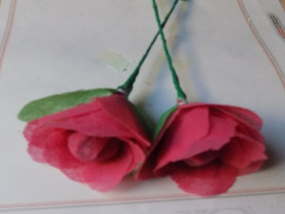 How to make rose by paper folding