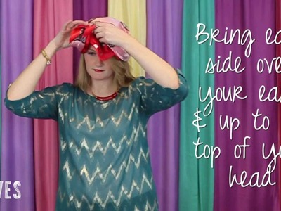 How to Tie a Head Scarf: Bows Away