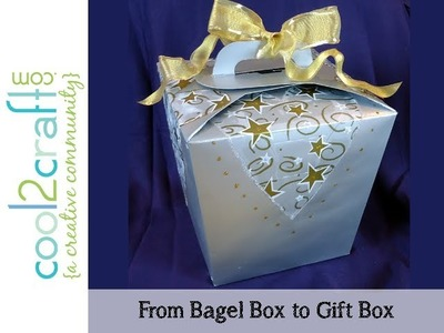 How to Transform a Bagel Box into a Gift Box by Candace Jedrowicz