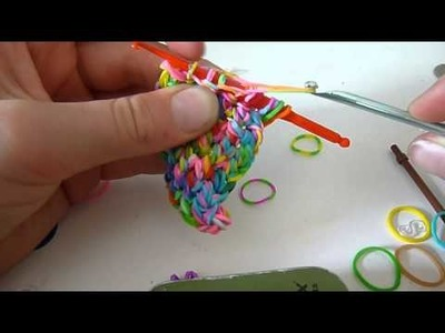 HowTo Weave a Square With Loom Bands Tutorial with just a hook: Part 2