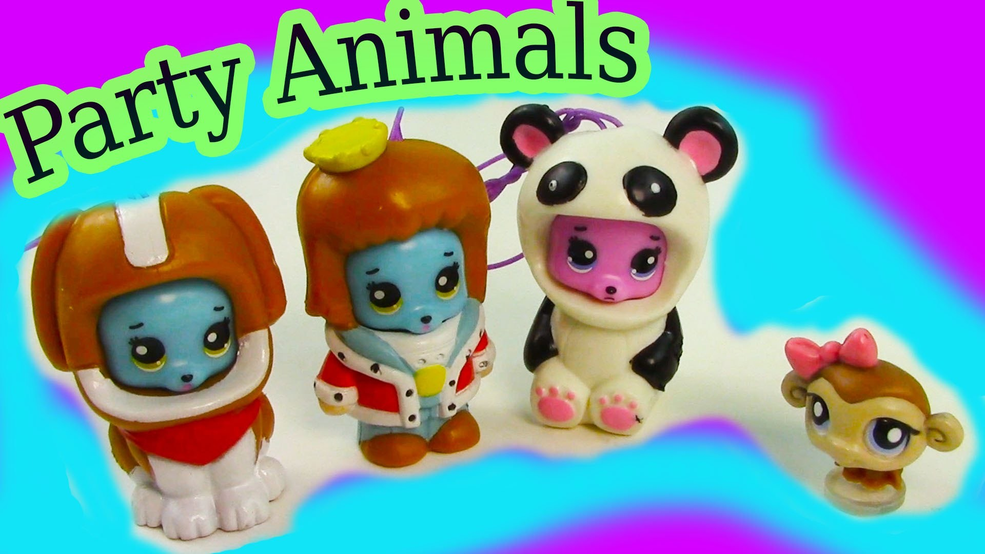 Party Animals Fun Bears Costumes Unboxing Toy Review Littlest Pet Shop Opening