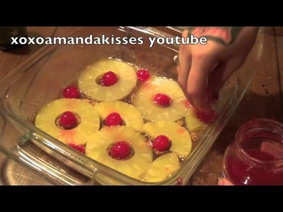 Pineapple  upside down cake from scratch super easy !!