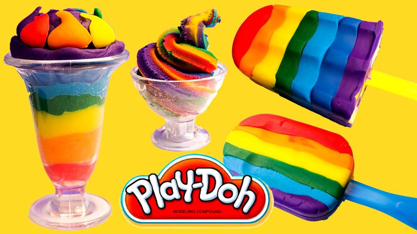 Play Doh Ice Cream Playdough Popsicles Play-Doh Scoops 'n Treats Hasbro Toys Playset