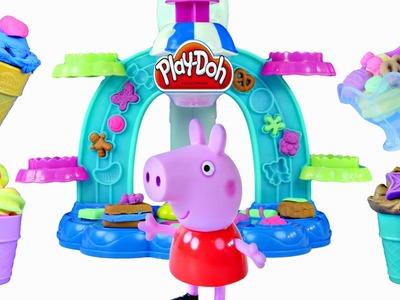 PLAY DOH Swirl & Scoop Ice Cream Sundae Playdough Waffle Cone Desert Peppa Pig Desierto Plastilina