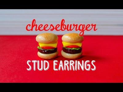 Polymer Clay Cheeseburger Stud Earring Tutorial | Pasteldaisy