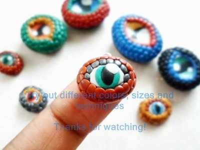 Polymer Clay Dragon Eye Charm Tutorial