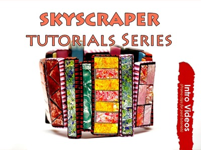 PROMO INTRO PolyPediaOnline TV - The SkyScraper Jewelry and Flakes Technique Polymer Clay Tutorials