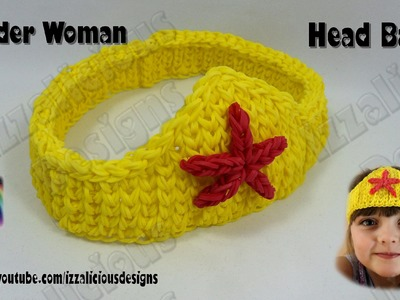 Rainbow Loom Wonder Woman Headband.Hairband - Single Loom