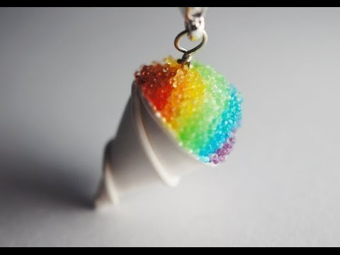 Rainbow Snow Cone Tutorial, Miniature Food Tutorial, Polymer Clay