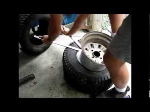 Removing And Replacing A Tire On The Rim With Manual Tools