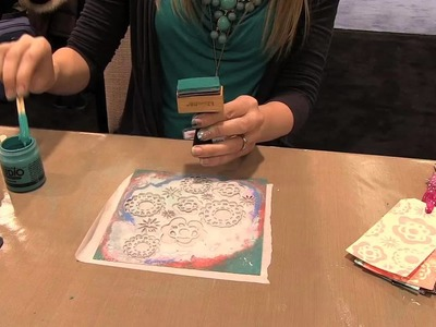 Scrap Time - CHA Winter 2013 - Stenciling with Claudine Hellmuth