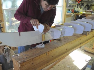 Setting up Strip-Built Kayak Forms