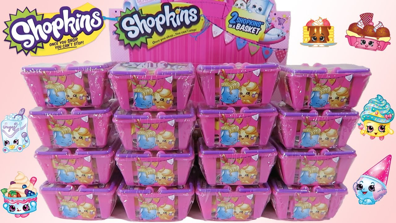 Shopkins Season 2 HUGE 30 Blind Baskets Unwrapping Full Box with 12 ULTRA RARES!