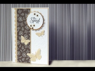 Simple and Elegant Wedding Card tutorial