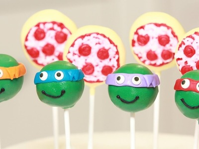 TEENAGE MUTANT NINJA TURTLES CAKE POPS - NERDY NUMMIES