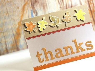 Thanks (Autumn Card) - Make a Card Monday #91