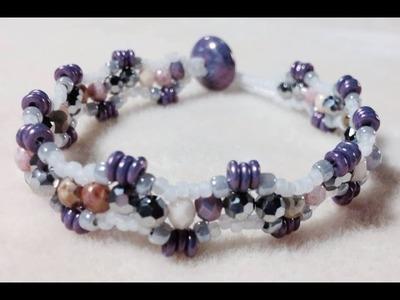 (Tutorial) Crystal Wave Bracelet (Video 65)
