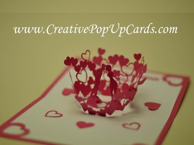 Valentine's day Kissing Couple Pop Up Card Updated
