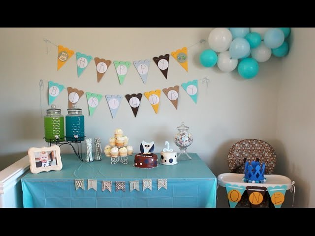 Baby Winston's 1st Birthday Decorations!!