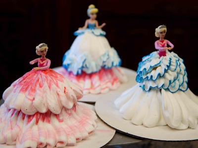 Barbie Doll  Princess cake- Cupcakes- How to Decorate