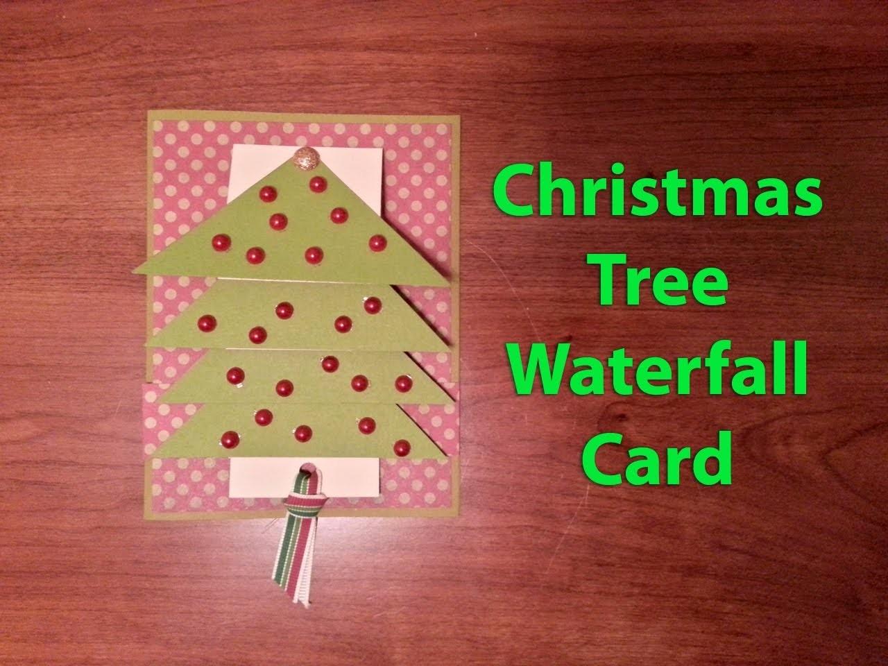 Christmas Tree Waterfall Card Tutorial