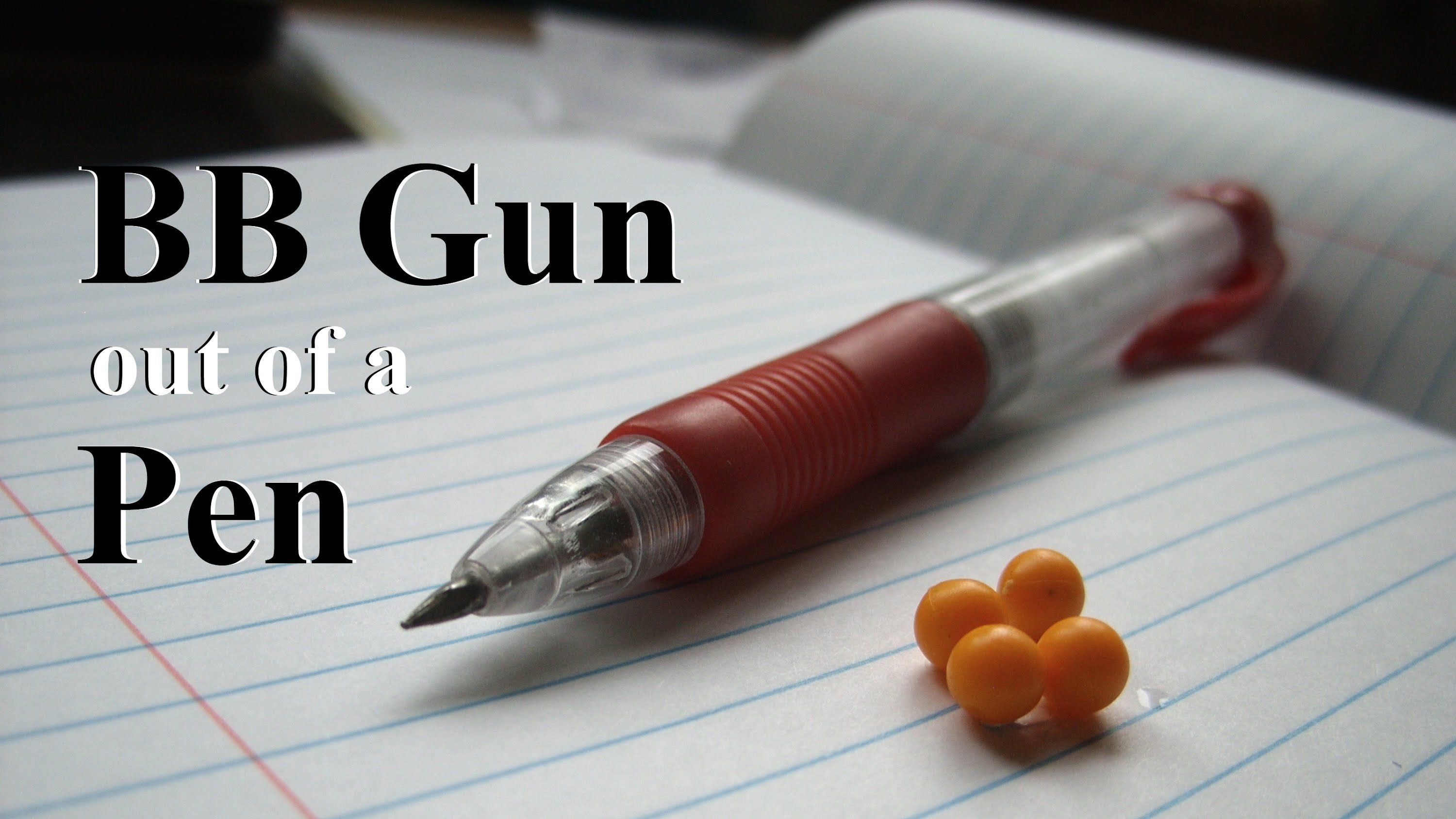Easy: How to Make a BB Gun out of a Pen