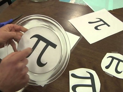 "Etched Glass ""Pi"" Pie Pans with a vinyl stencil and sandblaster"
