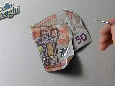 Freaking realistic drawing of a fifty euro note