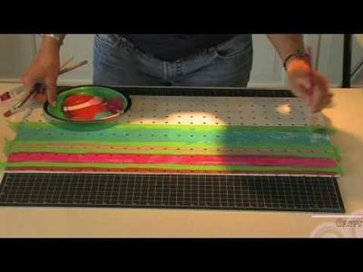 Hanging Pegboard Organizer (Step 1)- Using Making Memories Blossoms & Buttons