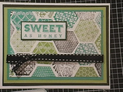 HEXAGON CARD USING CLOSE TO MY HEART STAMP SET