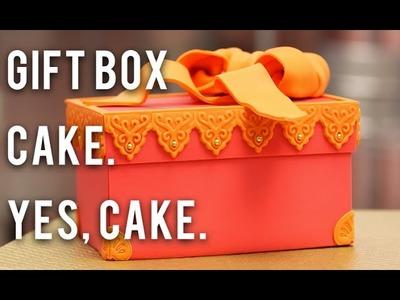 How to Cake… A Gift Box Cake - Chocolate Cake and Fondant!