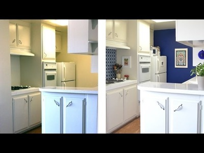 How to decorate a kitchen with temporary wallpaper and backsplash - Season 2 - Ep 3