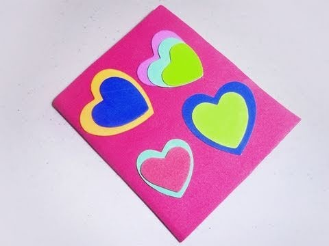 How to decorate your notebook with foam heart theme - EP