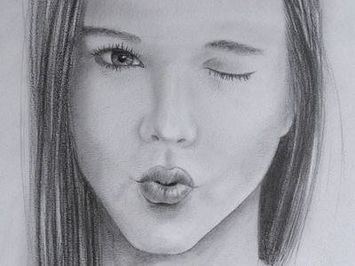 How to Draw a Girl Kissing - Mouth Sending a Kiss