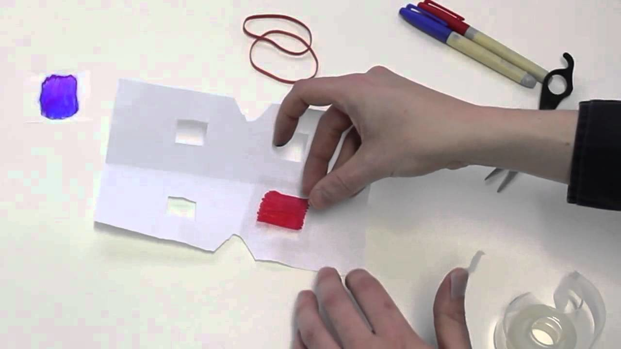 How to Make 3D Glasses with Household Items