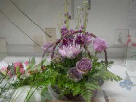How to make a fresh flower basket with Butterflies on it