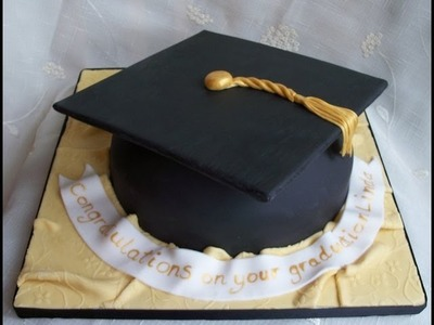 How To Make a Graduation Hat Cake - Tutorial