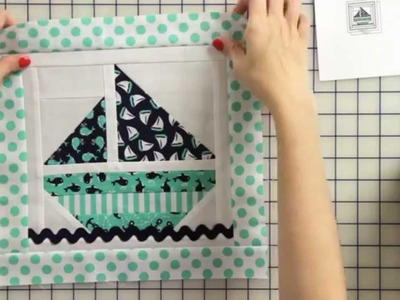 How to Make a Sail Boat Tooth Fairy Pillow Starting with a Quilt Block - Part 1 - Fat Quarter Shop