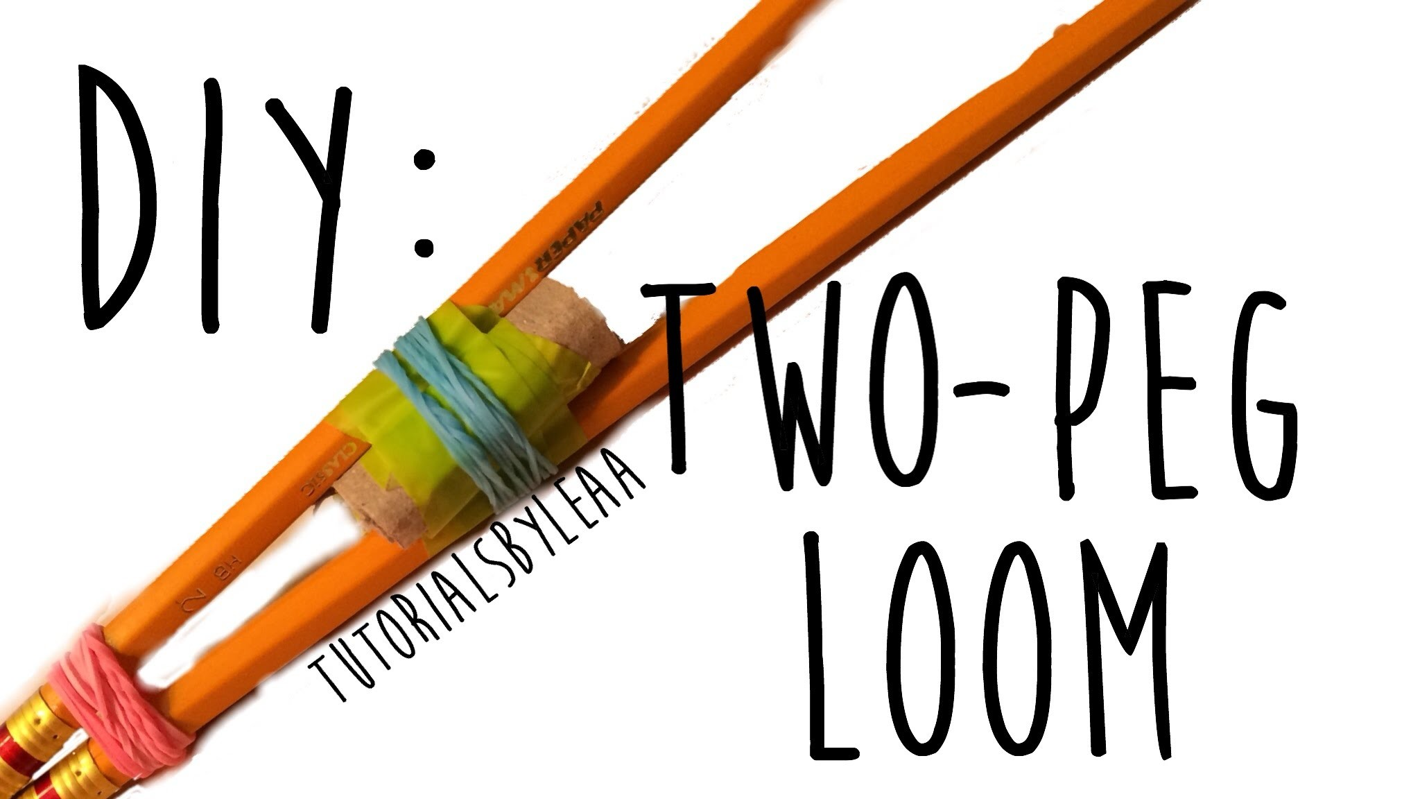 How to make a TWO PEG LOOM using pencils!!