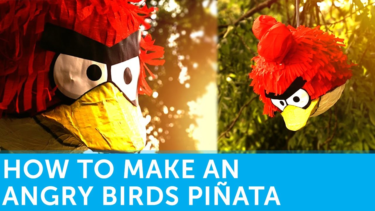 How To Make An Angry Birds Piñata   Paper Mache Tutorial By Solopress