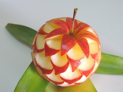 How to make apple sculpture - J.Pereira-Art Carving