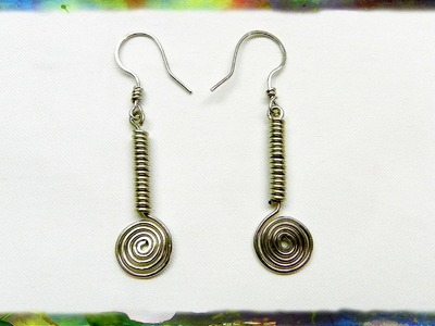 How To Make Beautiful Silver Wire Earrings Designed with the Spiral and Coil by Ross Barbera