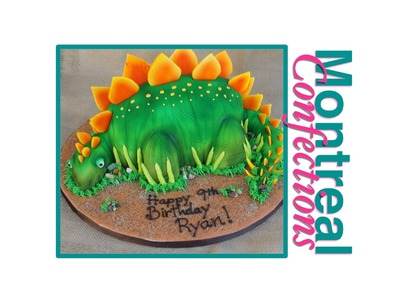 How to make Dinosaur cake - Complete video tutorial - Stegosaurus cake