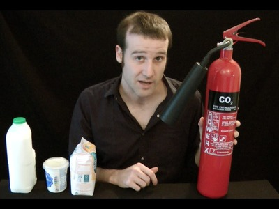 How to make Instant Icecream using a Fire Extinguisher