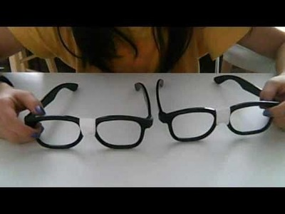 How to make nerd glasses