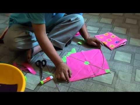 How to make Tibetan fighter kite.