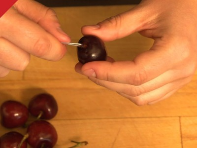 How to Pit a Cherry with a Paper Clip - CHOW Tip