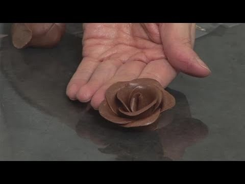 How To Shape Chocolate Roses