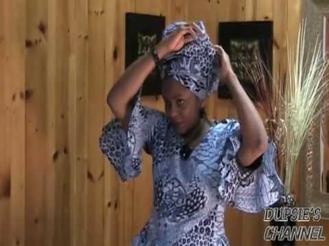 How to tie your African Head wrap, Scarf